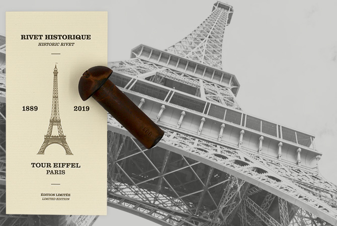 The historic rivet of the Eiffel tower